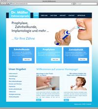 Beispielwebdesign Ärzte-Homepage