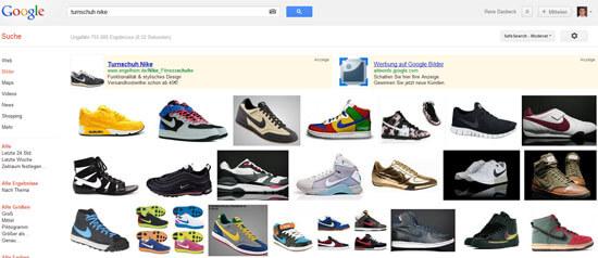 Google Image Search Beispiel