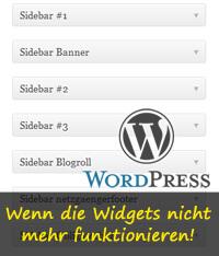 Wordpress: wenn die Widgets nicht mehr funktionieren