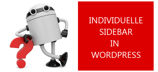 Individuelle Sidebar in WordPress