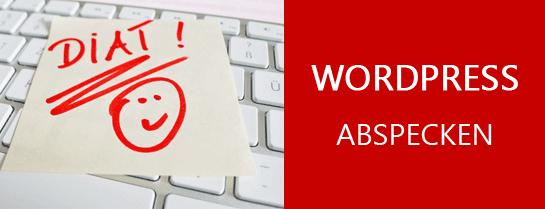 Wordpress abspecken