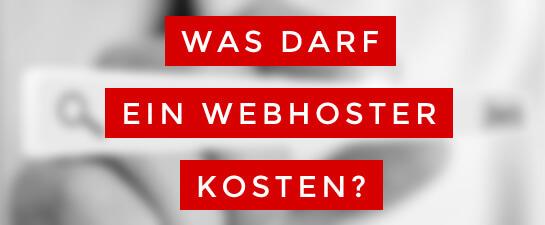 Was darf ein Webhoster kosten?