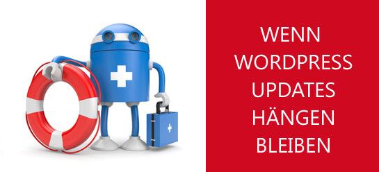 Wenn WordPress Updates hängen bleiben