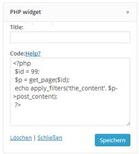 phpwidget