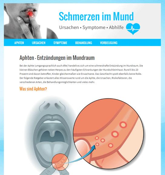 Neue Webseite www.schmerz-im-mund.de