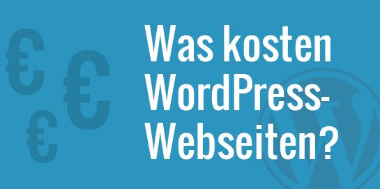 Wie Hoch Sind Die Kosten Für Eine Wordpress Webseite